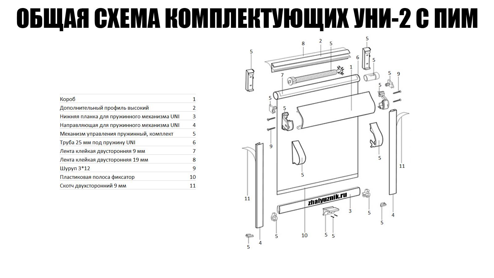 Фотошторы рулонные системы Уни-2 ПИМ (снизу-вверх) с тканью Плэйн (Интерсклад)