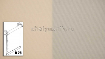 Рулонная штора системы D-25 с тканью - Плэйн-роллекс Персиковый (Интерсклад)