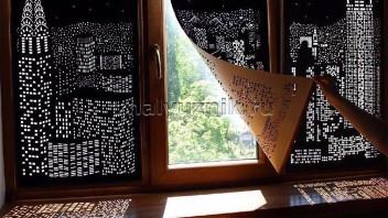Перфорированная ткань для рулонных штор