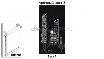Перфорированная рулонная штора системы мини для 1-но створчатого окна с макетом Арочный мост-3