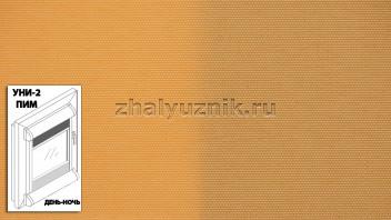Рулонная штора системы уни-2 с пружиной День-Ночь, с тканью - Альфа светло-оранжевый (Амиго)