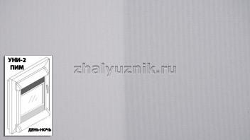 Рулонная штора системы уни-2 с пружиной День-Ночь с тканью - Плэйн-роллекс Светло-серый (Интерсклад)