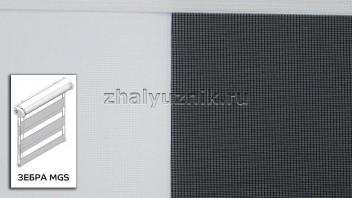 Рулонная штора системы Зебра MGS с тканью ZEBRA PARIS Светло-бежевый (Miamoza)