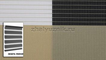 Рулонная штора системы Зебра мини с тканью Стандарт Бежевый (Амиго)