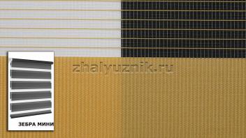 Рулонная штора системы Зебра мини с тканью Стандарт Карамель (Амиго)