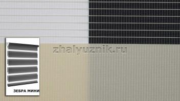 Рулонная штора системы Зебра мини с тканью Стандарт Персиковый (Амиго)