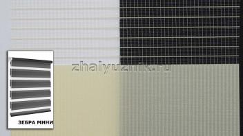 Рулонная штора системы Зебра мини с тканью Стандарт Ванильный (Амиго)