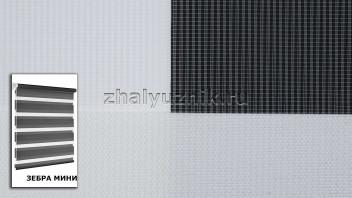 Рулонная штора системы Зебра мини с тканью ZEBRA LIZBON Белый (Miamoza)