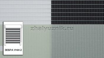 Рулонная штора системы Зебра уни-2 с тканью Стандарт Фисташковый (Амиго)