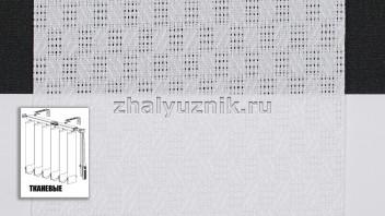 Вертикальные жалюзи тканевые, материал Кёльн белый (Амиго)