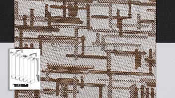 Вертикальные жалюзи тканевые, материал Маис коричневый (Амиго)