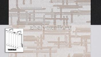 Вертикальные жалюзи тканевые, материал Маис персик (Амиго)