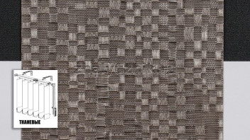 Вертикальные жалюзи тканевые, материал Манила коричневый (Амиго)