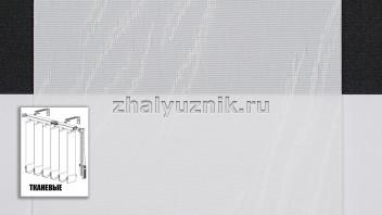 Вертикальные жалюзи тканевые, материал Милан белый (Амиго)
