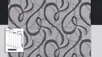 Вертикальные жалюзи тканевые, материал Рококо серый (Амиго)