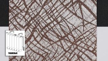 Вертикальные жалюзи тканевые, материал Сфера коричневый (Амиго)