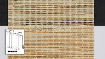 Вертикальные жалюзи тканевые, материал Шикатан чайная церемония бежевый (Амиго)