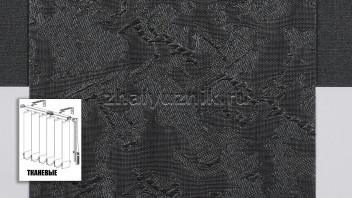 Вертикальные жалюзи тканевые, материал Шёлк черный (Амиго)