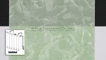 Вертикальные жалюзи тканевые, материал Шёлк светло-зеленый (Амиго)