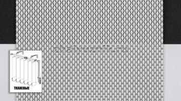 Вертикальные жалюзи тканевые, материал Скрин-2 серый (Амиго)